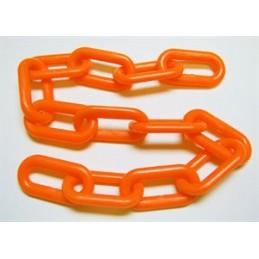"Chaine orange en plastique 2"""
