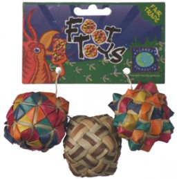 Woven square foot toy (3 pcs)